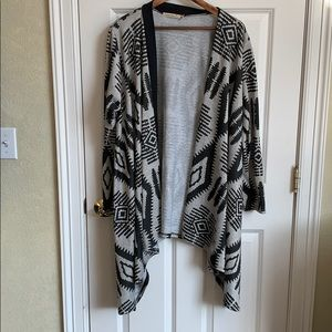 Tribal print over sweater